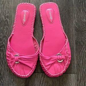 Brand new pink slip on flats